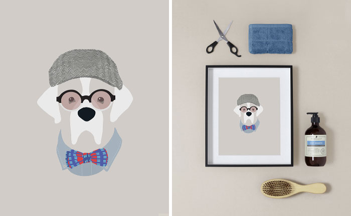 Woof Models: I Draw Dogs Who Like The More Fashionable Side Of Life