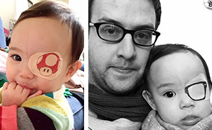 This Girl Has To Wear An Eyepatch, So Her Dad Tries To Make The Best Of It