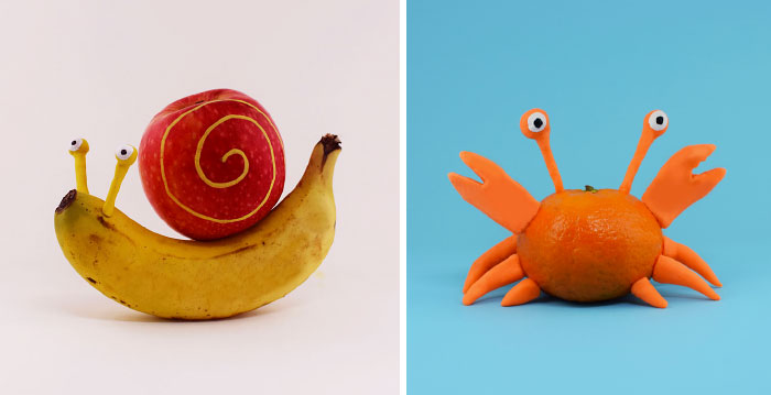 Playing With Fruit: I Use Various Fruits To Create Animal Characters