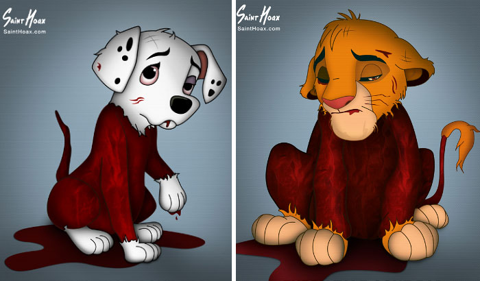 Furry Tale: Skinned Disney Characters Protest The Fur Industry
