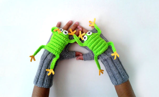 Cute Frog Gloves