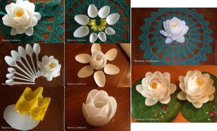 How To Make A Flower With Disposable Spoons