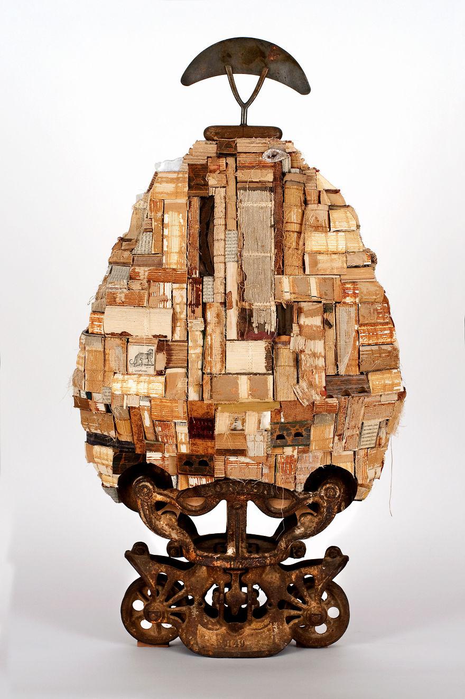 "John Sager ""hagia Sophia"" (36"" X 19"" X 10"") -- Altered Book With Books, Cast Iron Barndoor Trol"