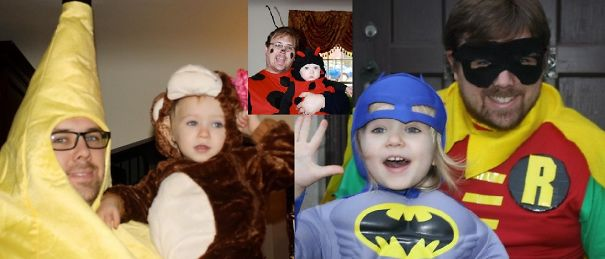 Themed Halloween Costumes With His Daughter