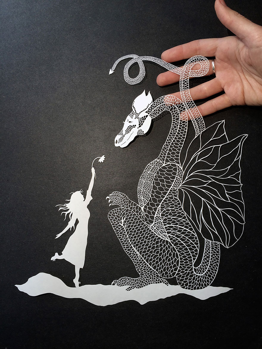 Incredibly Detailed HandCut Paper Art By Maude White Bored Panda - Intricate hand cut paper art maude white