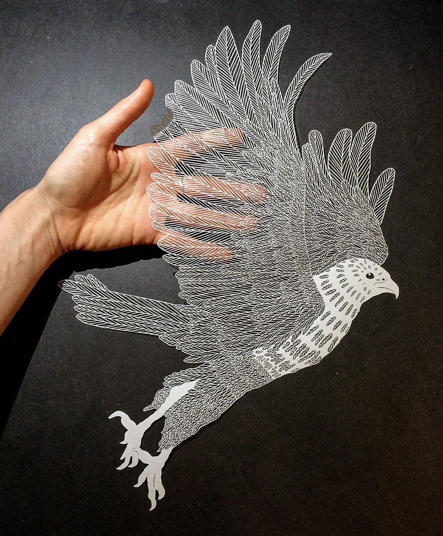 Incredibly detailed hand cut paper art by maude white