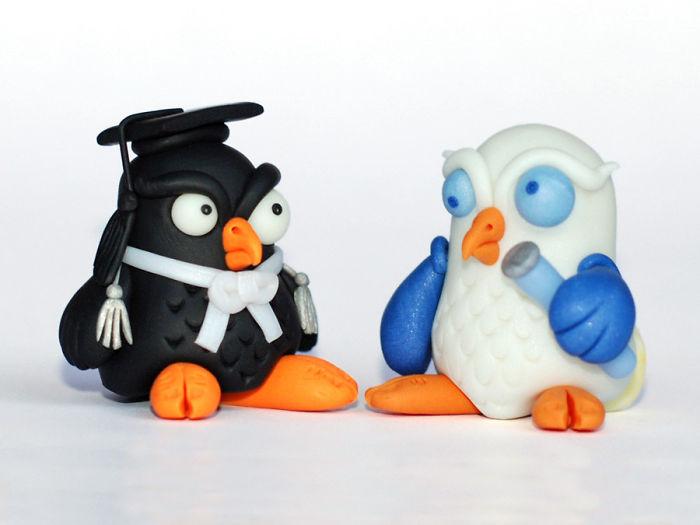 Owl Miniature Figurine - Lawyer Owl, Laboratory Owl