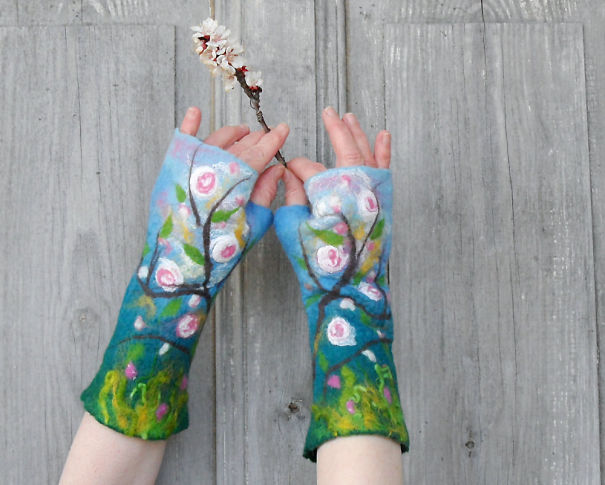 Hand Felted Mittens