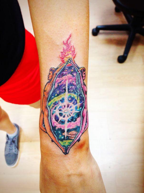 Twin Flames By Fat Cat Tattoo