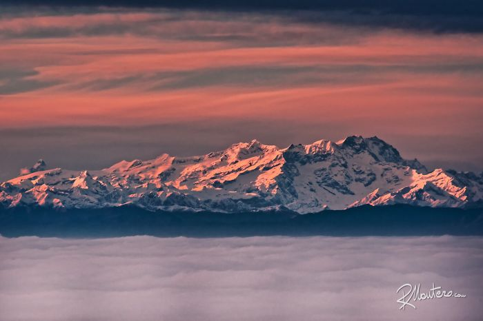 Monte Rosa At Sunset