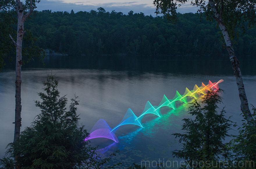 Kayaking. Led Lights Long Exposure Stephen Orlando 1. U201c