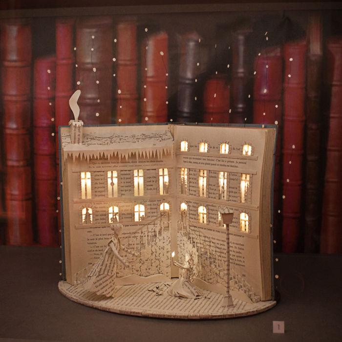 The Little Match Girl – Handmade Book Sculpture By Karine Diot