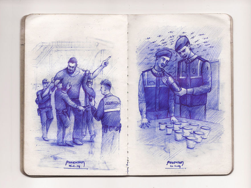 What If A Designer Went To Military Service With A Pocket-Size Notebook And A Ballpoint Pen