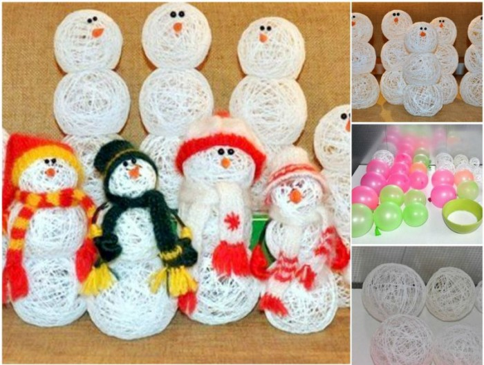 Making A Snowman With A Balloon And Thread