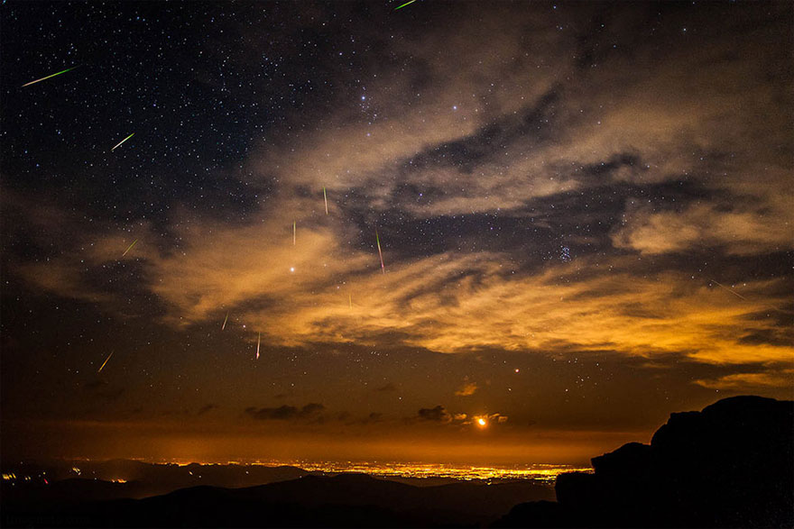 Perseid Meteor Shower Over Denver, Colorado