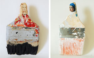 Artist Transforms Old Paintbrushes Into Delicate Ladies