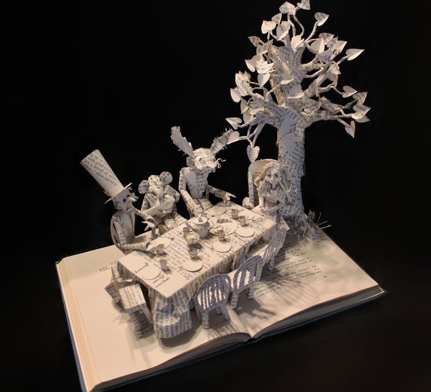 Post the most beautiful examples of book sculptures