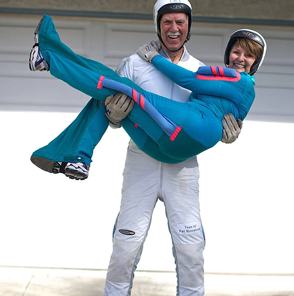 Pat And Alicia Moorhead, 81 And 66-Year-Old Skydivers