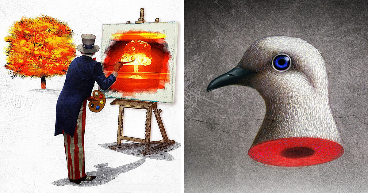 War And Peace Political Satire Illustrations By Anthony Freda
