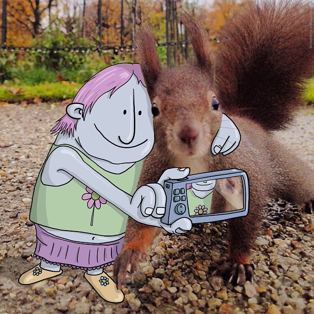 Illustrator Adds Funny Cartoons To Strangers' Instagram Photos
