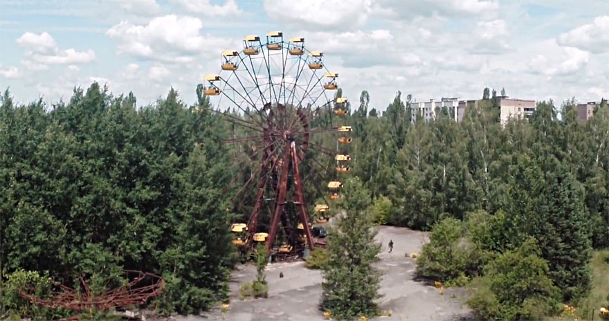 Post-Apocalyptic Drone Footage From Prypiat, Chernobyl