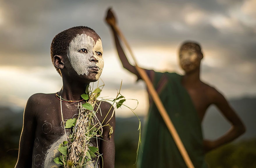 Boy From The Suri Tribe