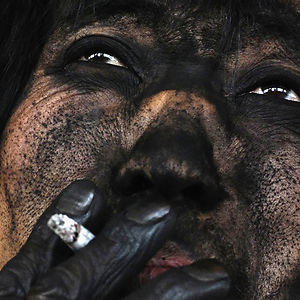 A Coal Miner Smokes A Cigarette After Finishing His Shift On The Outskirts Of Changzhi