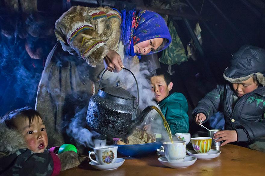 Tea Time In Yamal, Russia