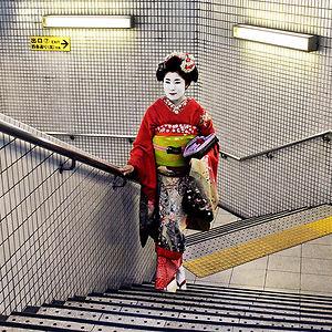 Geisha In Subway