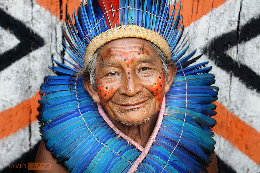 Chief Of A Village In Brazil