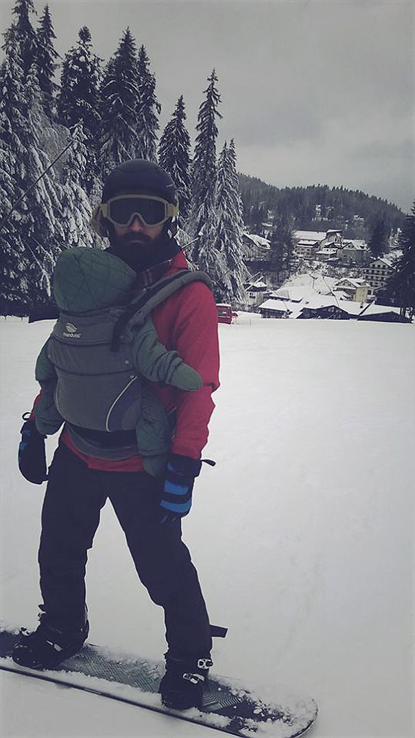 Snowboarding With His Best Mate :)