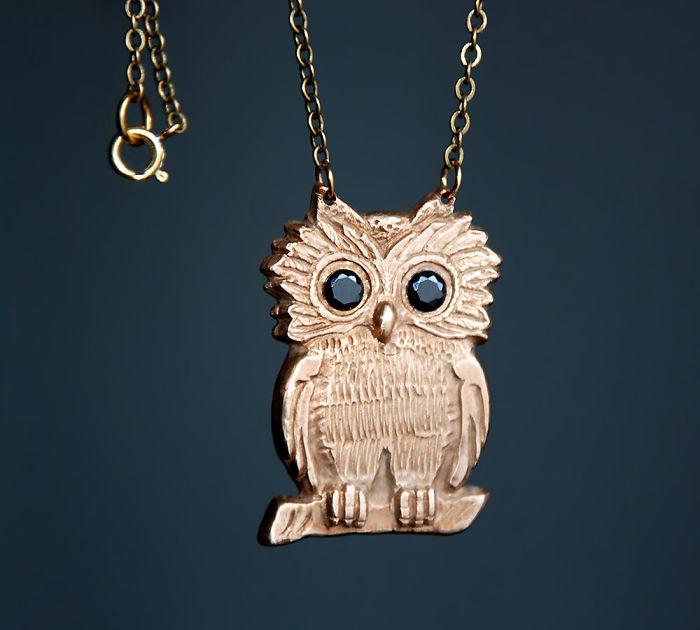 Handsculpted Owl Necklace