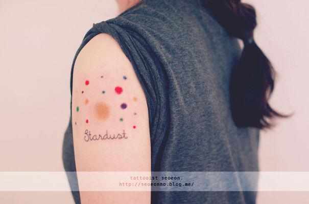 Minimalistic Stardust Tattoo