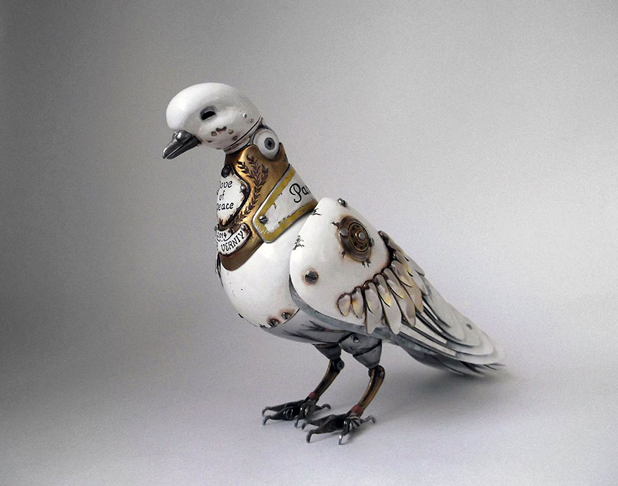 Recycled Steampunk Animal Sculptures With Moving Parts By Igor Verniy