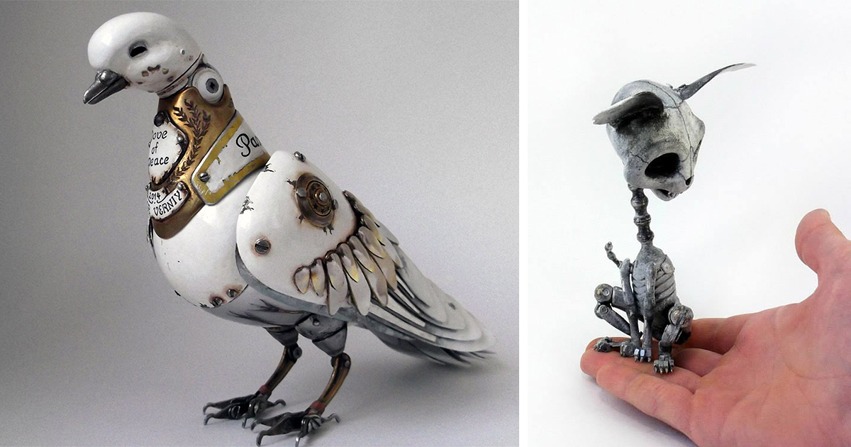Russian Artist Creates Steampunk Animals From Old Car Parts Watches