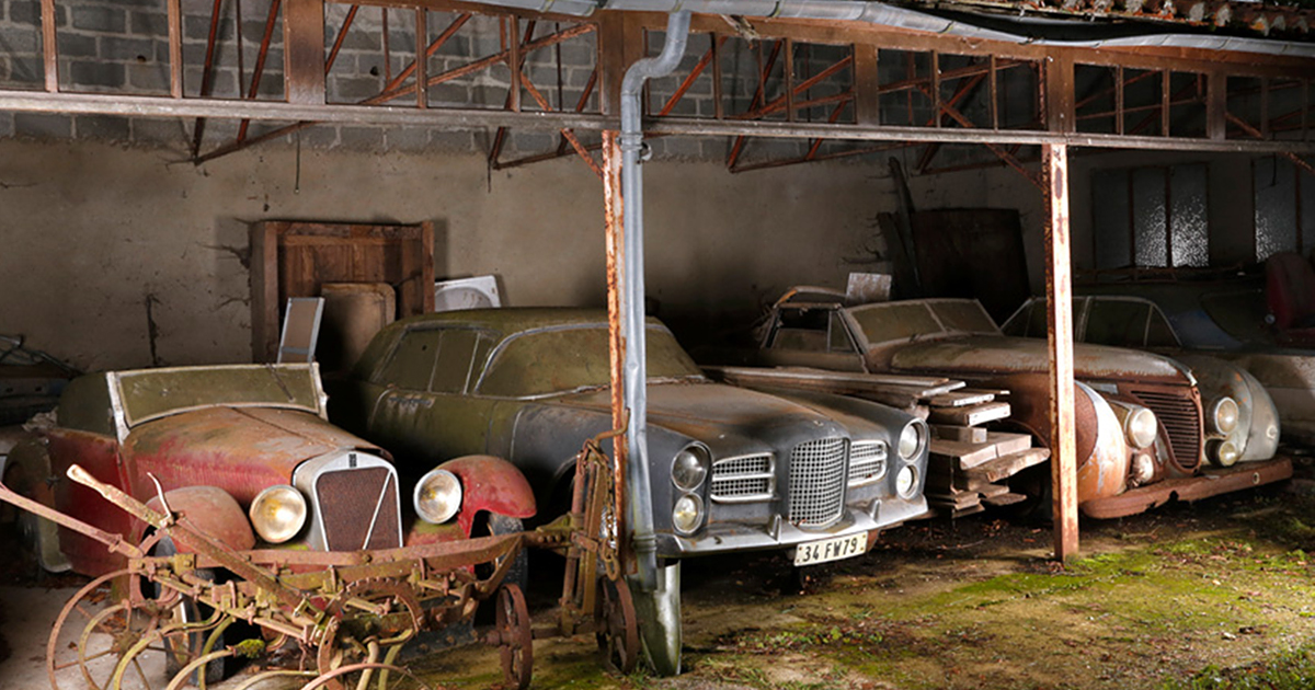 60 Vintage Cars Found After 50 Years Of Neglect On French Farm Are ...