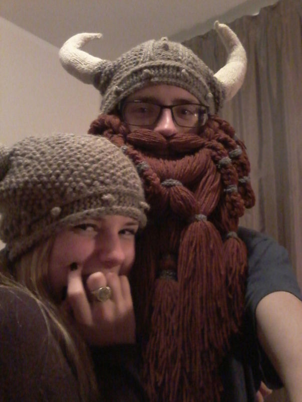 Hat Made By My Awesome Girlfriend With Gloins Beard^^