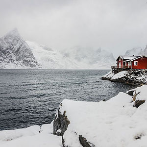 Red House In Snowy Norway