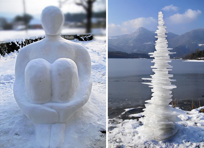 I Create Land Art Of Frost, Snow And Ice