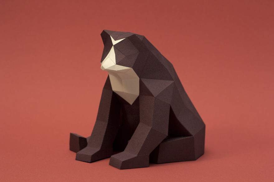 we are a couple of artists who create lowpoly animals from