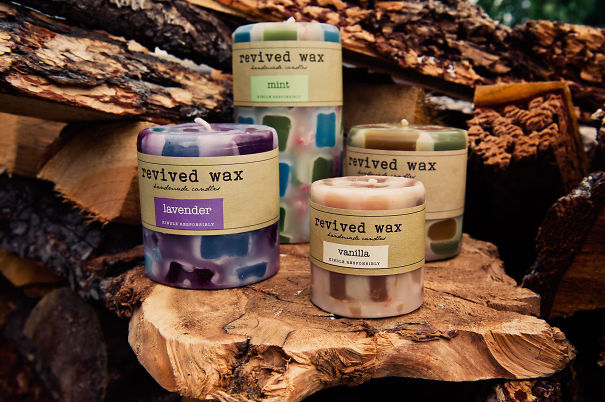 Revived Wax Candles- Turning Your Trash Into Treasures!