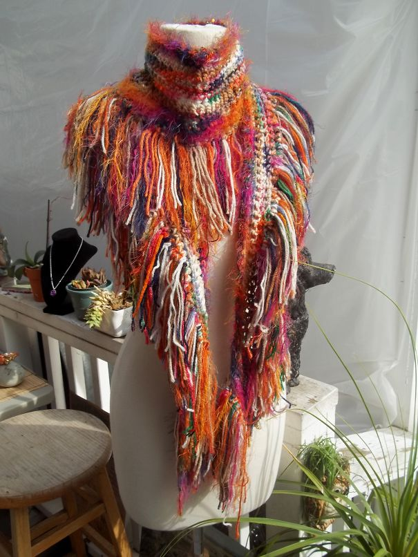 Couture Scarf With Shawl Fringe By La General Store Design Studio