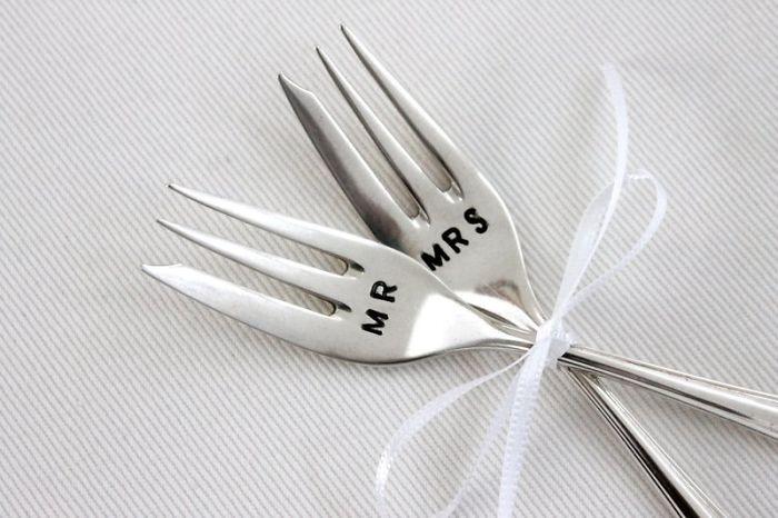 Mr & Mrs Engraved Forks