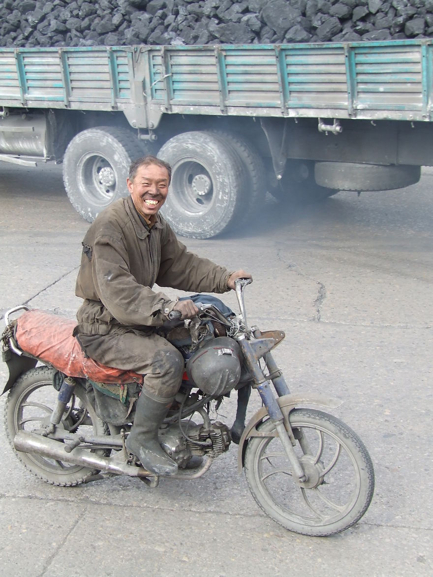 Coming Home From The Coal Mine - Near Datong, China