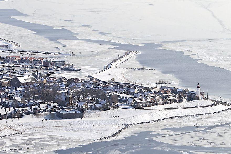 Frozen Sea Around Urk, Holland
