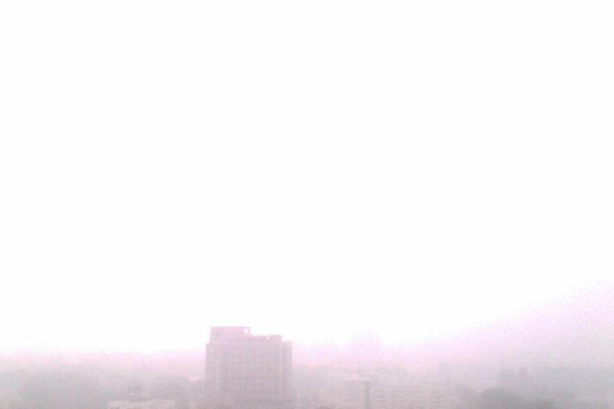 Pollution In Beijing From The Seventeenth Floor