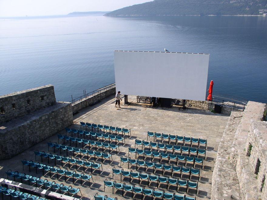 Summer Cinema Forte Mare Fortress Herceg Novi, Montenegro