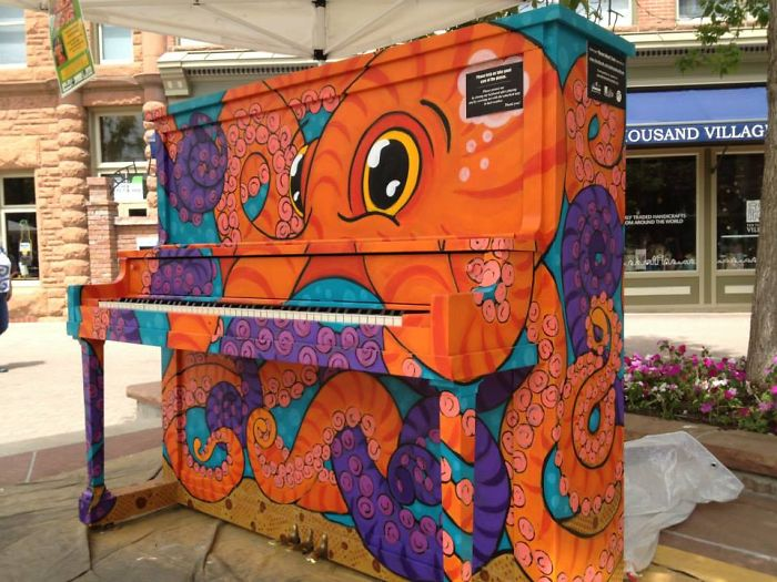 """octopus Octaves"" By Ren Burke, Pianos About Town – Fort Collins, Co"