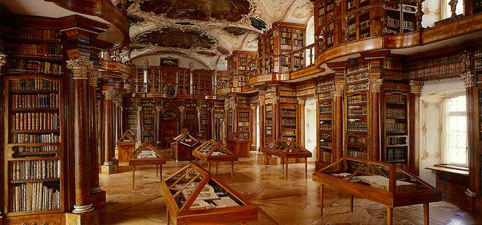 Abbey Library Of Saint Gallen Switzerland