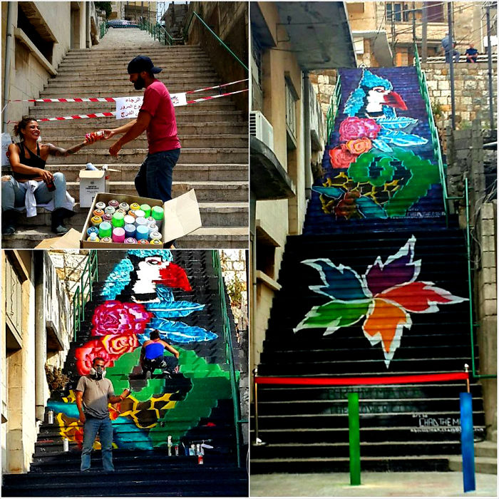 Brummana, Lebanon - The Flower City, Mural By Chad The Mad